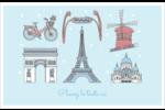 Les gabarits Fêtes à Paris pour votre prochain événement Cartes de souhaits pliées en deux - gabarit prédéfini. <br/>Utilisez notre logiciel Avery Design & Print Online pour personnaliser facilement la conception.