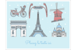 Les gabarits Fêtes à Paris pour votre prochain événement Cartes Et Articles D'Artisanat Imprimables - gabarit prédéfini. <br/>Utilisez notre logiciel Avery Design & Print Online pour personnaliser facilement la conception.