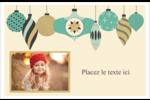 Motif de décorations Cartes de souhaits pliées en deux - gabarit prédéfini. <br/>Utilisez notre logiciel Avery Design & Print Online pour personnaliser facilement la conception.