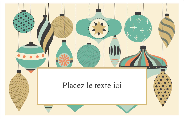 """5½"""" x 8½"""" Cartes de souhaits pliées en deux - Motif de décorations"""