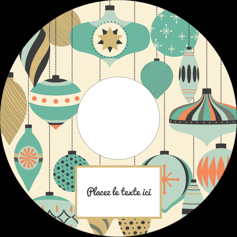 CD/DVD Étiquettes Pour Médias - Motif de décorations