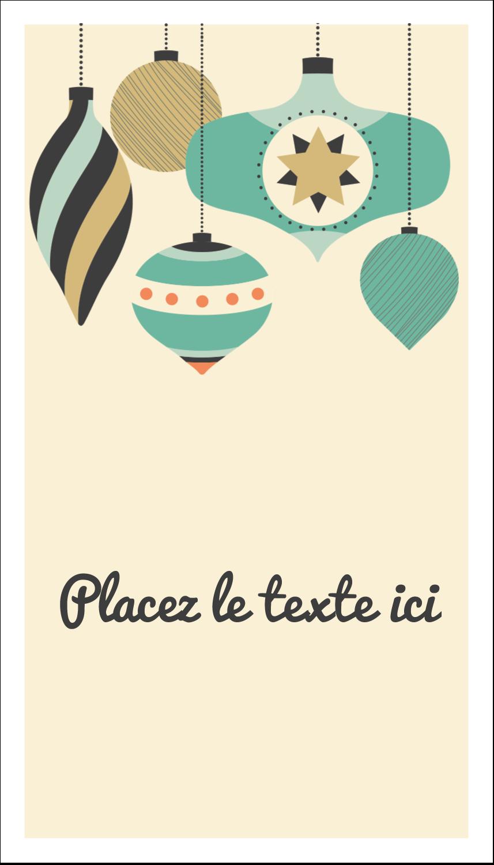 """2"""" x 3½"""" Carte d'affaire - Motif de décorations"""