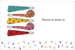 Les gabarits Trompettes pour votre prochain projet des Fêtes Cartes de souhaits pliées en deux - gabarit prédéfini. <br/>Utilisez notre logiciel Avery Design & Print Online pour personnaliser facilement la conception.