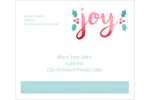 "Bring ""hollyday"" cheer to custom projects with pre-designed Handwritten Joy templates."