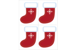 Add holiday cheer to custom projects with pre-designed Snowflake Stocking templates.