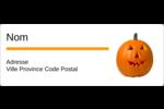 Citrouille d'Halloween Étiquettes D'Adresse - gabarit prédéfini. <br/>Utilisez notre logiciel Avery Design & Print Online pour personnaliser facilement la conception.