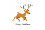 Add darling holiday cheer to custom projects with pre-designed Rudolph Reindeer templates.