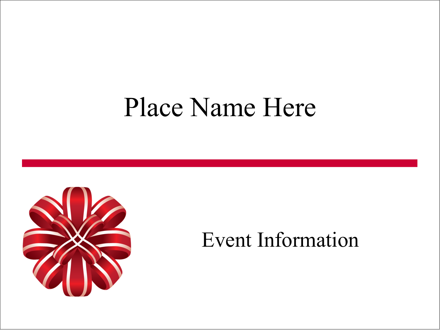 """3"""" x 4"""" Name Tags - Red Ribbons"""