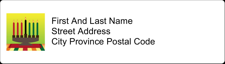 "½"" x 1¾"" Address Label - Kwanzaa Green Glow"