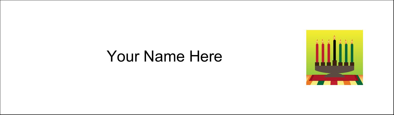 "2½"" x 8½"" Tent Card - Kwanzaa Green Glow"