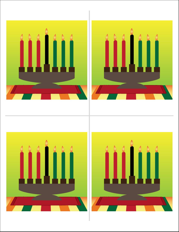 "8½"" x 11"" Magnet Sheets - Kwanzaa Green Glow"