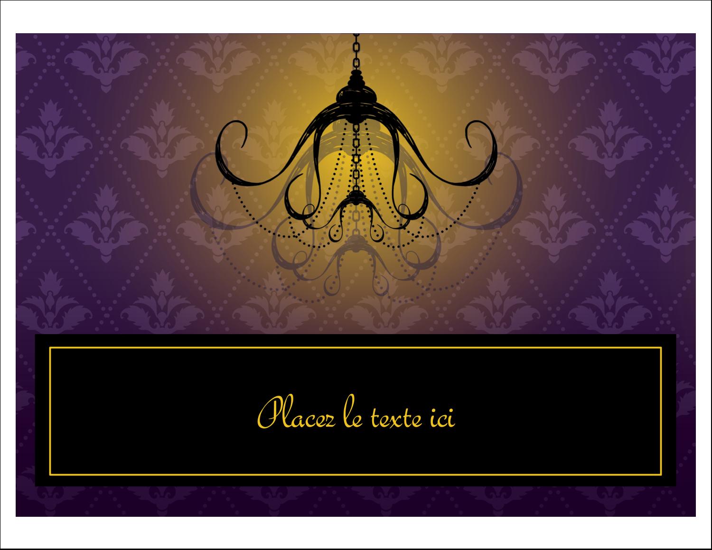 """8½"""" x 11"""" Cartes Et Articles D'Artisanat Imprimables - Chandelier macabre élégant d'Halloween"""