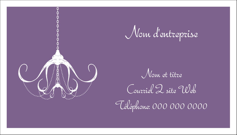 """2"""" x 3½"""" Carte d'affaire - Chandelier macabre élégant d'Halloween"""