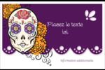 Halloween, jour des Morts Cartes de souhaits pliées en deux - gabarit prédéfini. <br/>Utilisez notre logiciel Avery Design & Print Online pour personnaliser facilement la conception.