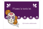 Halloween, jour des Morts Cartes Et Articles D'Artisanat Imprimables - gabarit prédéfini. <br/>Utilisez notre logiciel Avery Design & Print Online pour personnaliser facilement la conception.