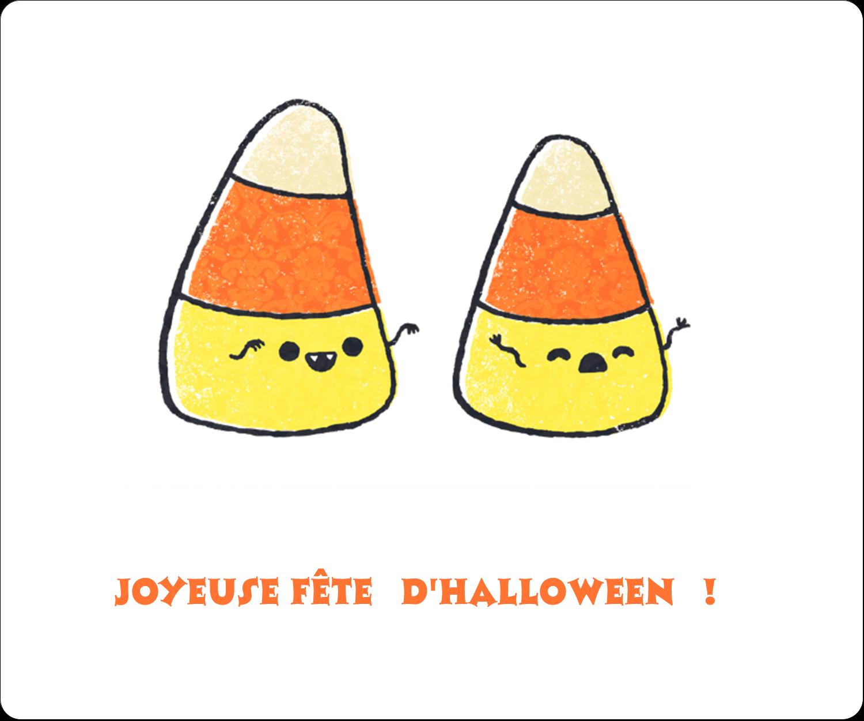 "½"" x 1¾"" Étiquettes D'Adresse - Bonbons de maïs d'Halloween"
