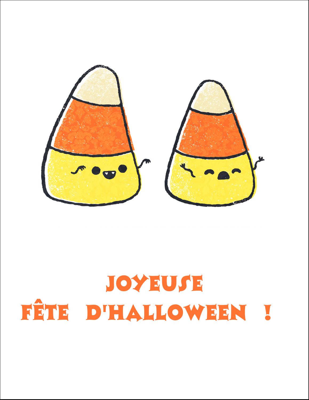 """5½"""" x 8½"""" Cartes Et Articles D'Artisanat Imprimables - Bonbons de maïs d'Halloween"""