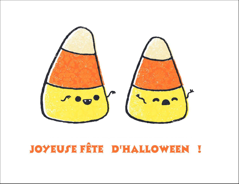 """8½"""" x 11"""" Cartes Et Articles D'Artisanat Imprimables - Bonbons de maïs d'Halloween"""