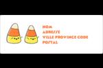 Bonbons de maïs d'Halloween Étiquettes d'adresse - gabarit prédéfini. <br/>Utilisez notre logiciel Avery Design & Print Online pour personnaliser facilement la conception.