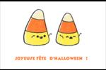 Bonbons de maïs d'Halloween Cartes de souhaits pliées en deux - gabarit prédéfini. <br/>Utilisez notre logiciel Avery Design & Print Online pour personnaliser facilement la conception.