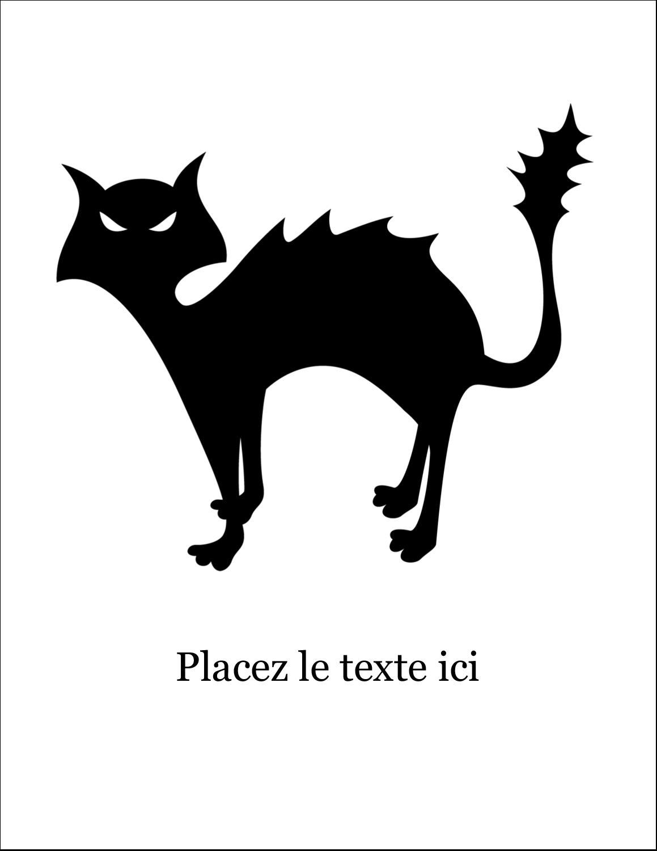 """8½"""" x 11"""" Cartes Et Articles D'Artisanat Imprimables - Prime d'Halloween"""