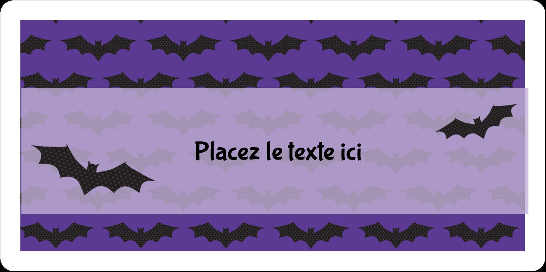 """3-7/16"""" x ⅔"""" Étiquettes de classement écologiques - Chauves-souris d'Halloween"""