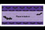 Chauves-souris d'Halloween Étiquettes de classement écologiques - gabarit prédéfini. <br/>Utilisez notre logiciel Avery Design & Print Online pour personnaliser facilement la conception.