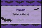 Chauves-souris d'Halloween Badges - gabarit prédéfini. <br/>Utilisez notre logiciel Avery Design & Print Online pour personnaliser facilement la conception.