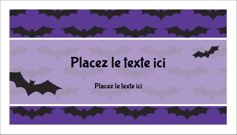 """2"""" x 3½"""" Carte d'affaire - Chauves-souris d'Halloween"""