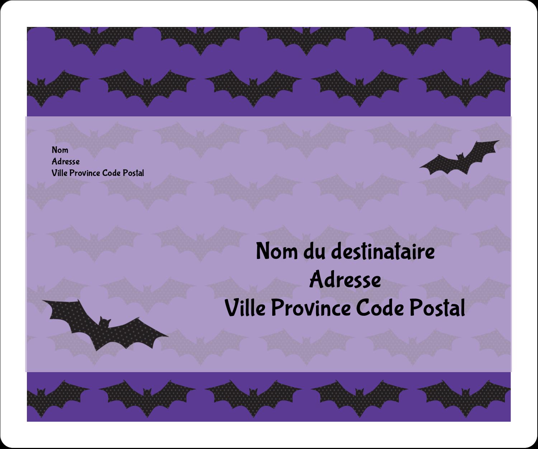 """½"""" x 1¾"""" Étiquettes D'Adresse - Chauves-souris d'Halloween"""