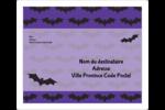 Chauves-souris d'Halloween Étiquettes D'Adresse - gabarit prédéfini. <br/>Utilisez notre logiciel Avery Design & Print Online pour personnaliser facilement la conception.