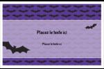 Chauves-souris d'Halloween Cartes de souhaits pliées en deux - gabarit prédéfini. <br/>Utilisez notre logiciel Avery Design & Print Online pour personnaliser facilement la conception.