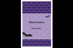 Chauves-souris d'Halloween Reliures - gabarit prédéfini. <br/>Utilisez notre logiciel Avery Design & Print Online pour personnaliser facilement la conception.