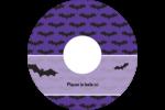 Chauves-souris d'Halloween Étiquettes Pour Médias - gabarit prédéfini. <br/>Utilisez notre logiciel Avery Design & Print Online pour personnaliser facilement la conception.