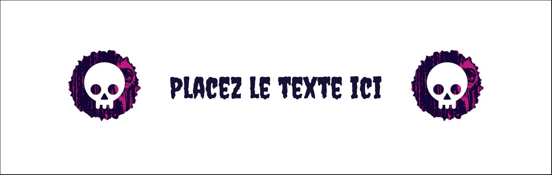 """4¼"""" x 5½"""" Carte de note - Cercueil d'Halloween"""