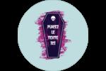 Cercueil d'Halloween Étiquettes Voyantes - gabarit prédéfini. <br/>Utilisez notre logiciel Avery Design & Print Online pour personnaliser facilement la conception.