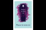Cercueil d'Halloween Cartes Et Articles D'Artisanat Imprimables - gabarit prédéfini. <br/>Utilisez notre logiciel Avery Design & Print Online pour personnaliser facilement la conception.