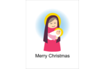 Infuse sweet symbolism into projects with pre-designed Baby Jesus with Mary templates.