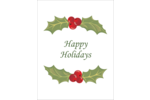 Deck your project with boughs of holly using pre-designed Holiday Holly Garland templates.