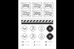 Trait fantaisiste Cartes Et Articles D'Artisanat Imprimables - gabarit prédéfini. <br/>Utilisez notre logiciel Avery Design & Print Online pour personnaliser facilement la conception.
