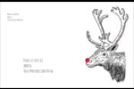 Nez rouge  Étiquettes d'expédition - gabarit prédéfini. <br/>Utilisez notre logiciel Avery Design & Print Online pour personnaliser facilement la conception.