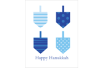 Take your project for a delightful spin with pre-designed Holiday Blue Dreidels templates.