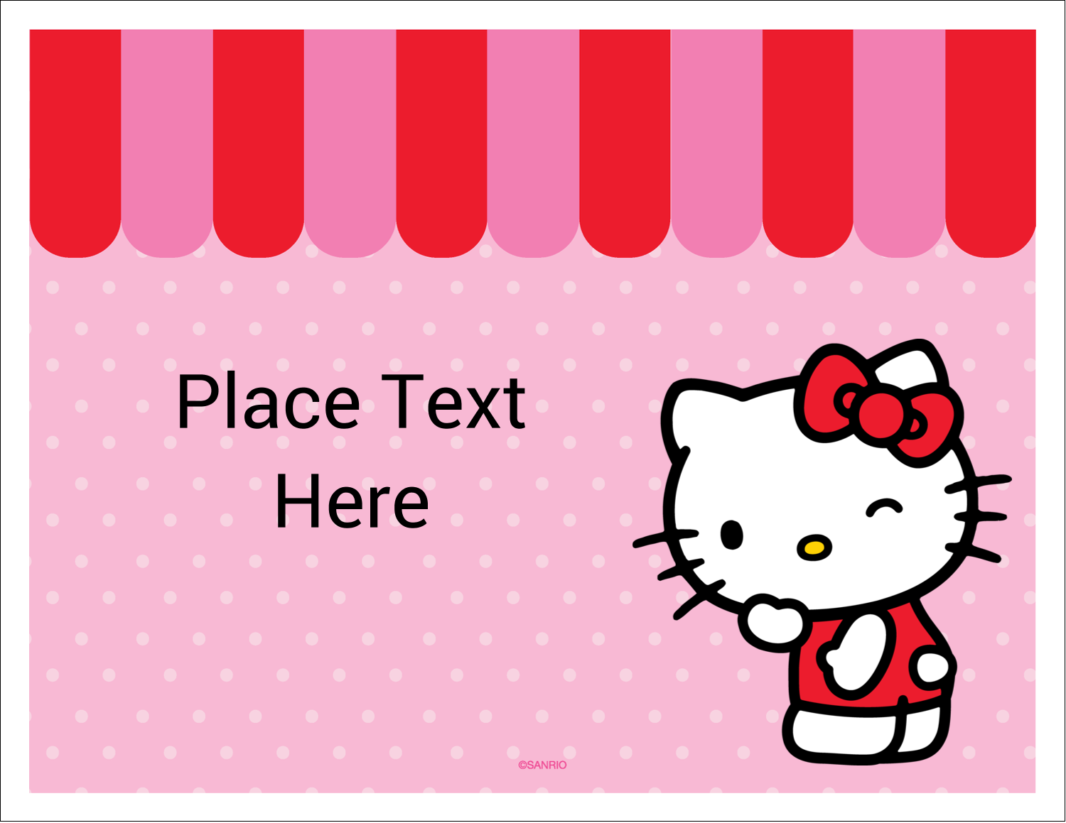 "5½"" x 4¼"" Note Card - Sweet Hello Kitty"