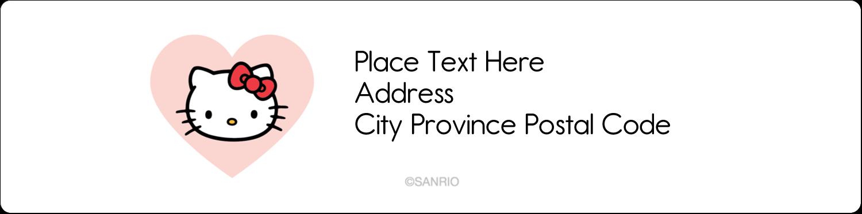 "1"" x 4"" Address Label - We love Hello Kitty"
