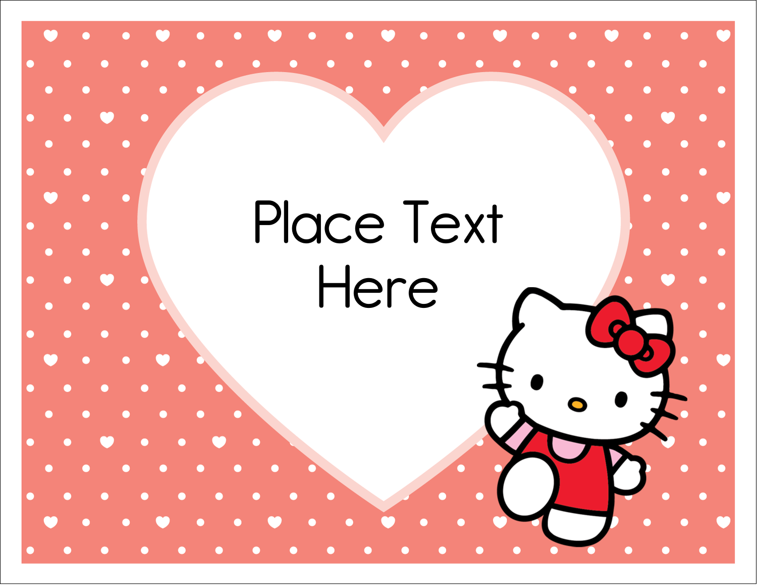 "5½"" x 4¼"" Note Card - We love Hello Kitty"