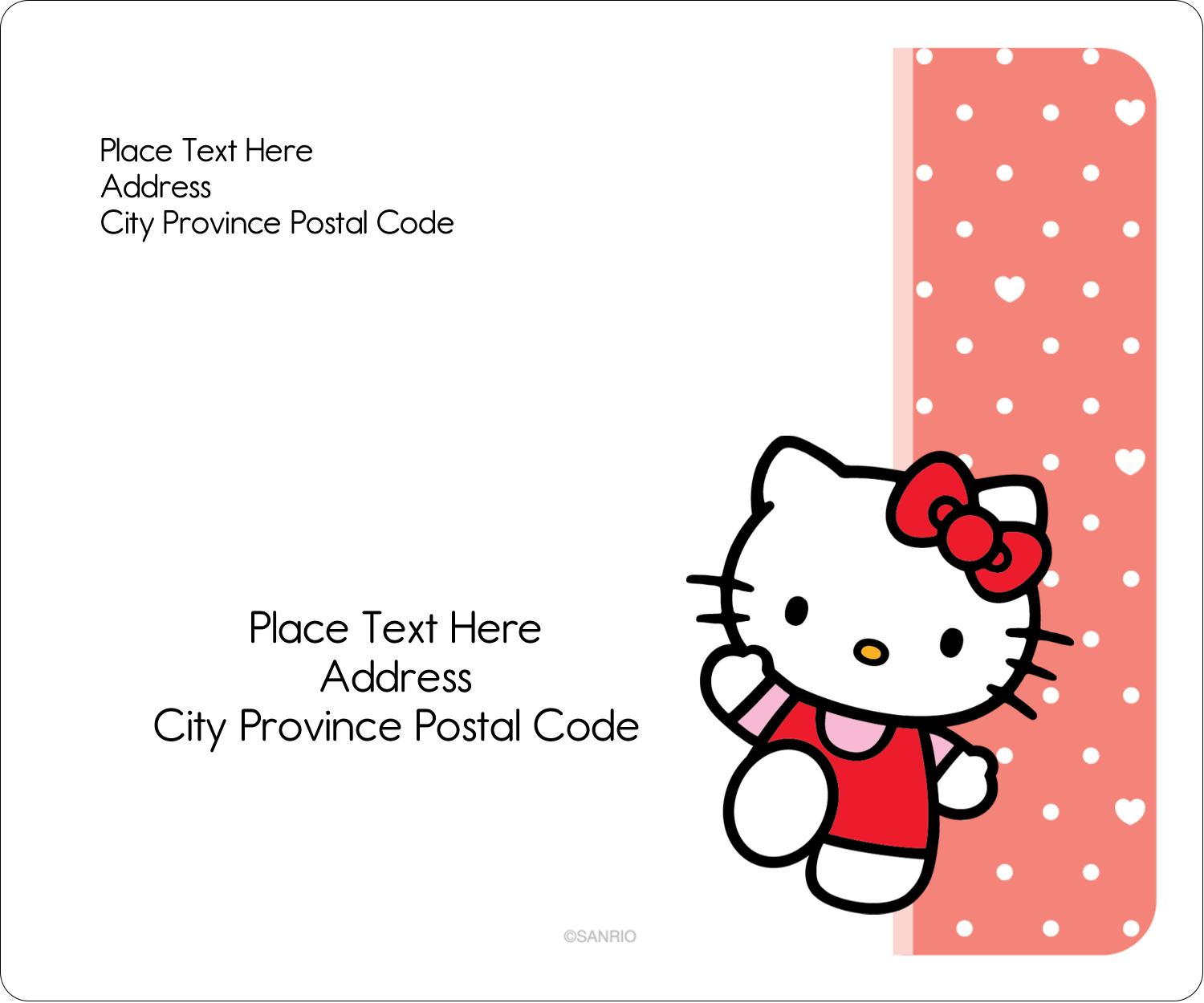 """3⅓"""" x 4"""" Shipping Label - We love Hello Kitty"""