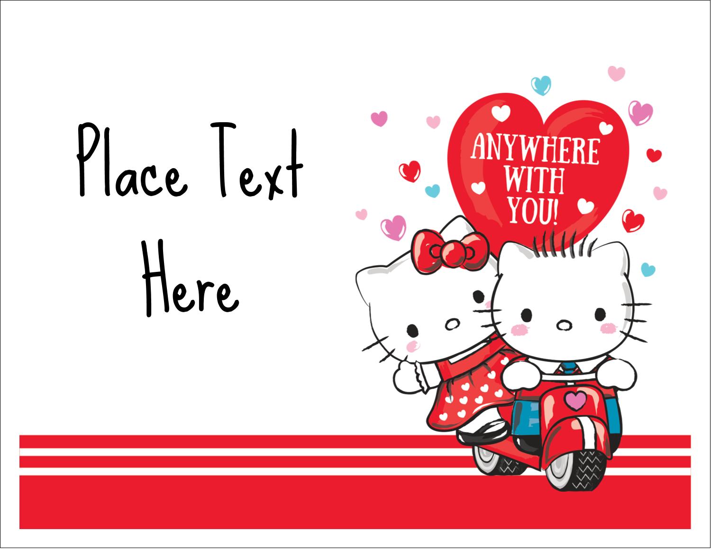"5½"" x 4¼"" Note Card - Hello Kitty & Dear Daniel Valentine"