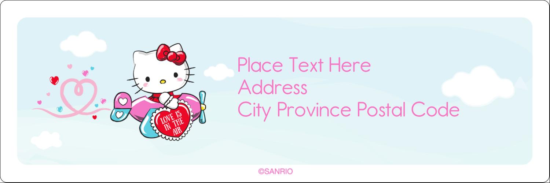 "1⅓"" x 4"" Address Label - Hello Kitty Valentine – You Make My Heart Soar"