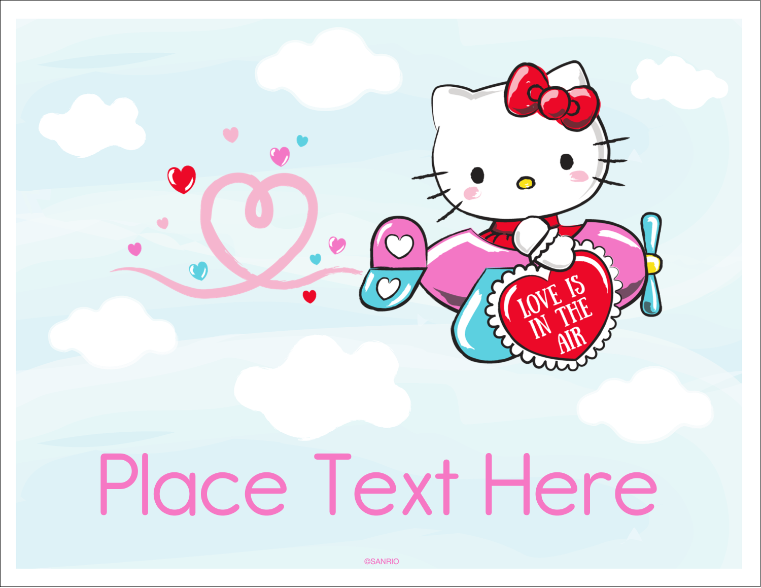 "5½"" x 4¼"" Note Card - Hello Kitty Valentine - You Make My Heart Soar"