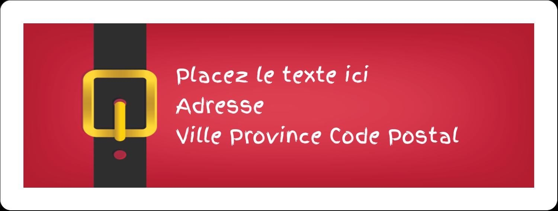 Père Noël minimaliste Étiquettes d'adresse - gabarit prédéfini. <br/>Utilisez notre logiciel Avery Design & Print Online pour personnaliser facilement la conception.